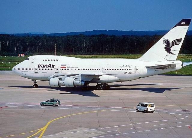 Iran Air 747 jet