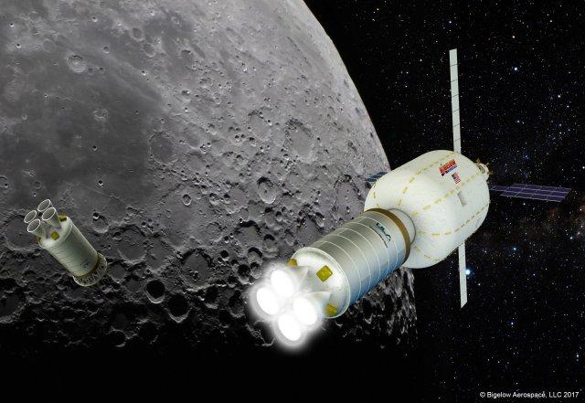 Bigelow lunar depot