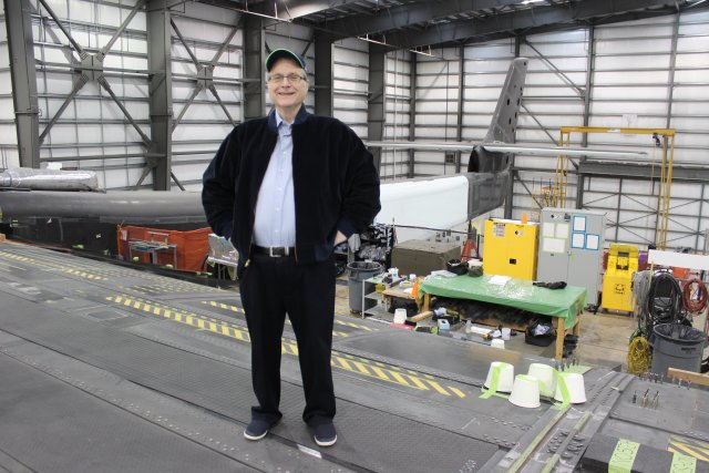 Paul Allen with Stratolaunch plane