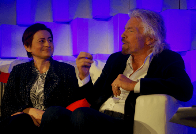 Nadia Shouraboura and Richard Branson