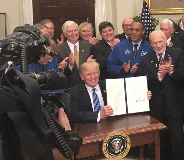 Trump with executive order