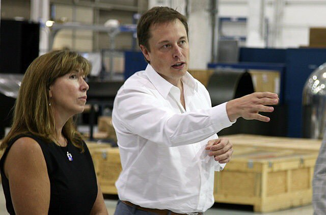 Lori Garver and Elon Musk