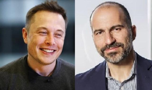 Musk and Khosrowshahi