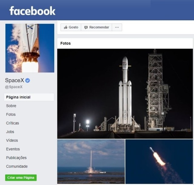 SpaceX on Facebook