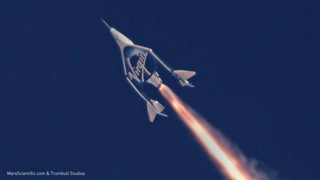 SpaceShipTwo rocket firing
