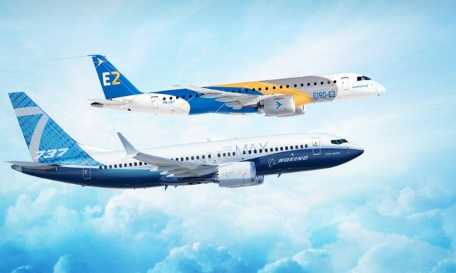 Boeing and Embraer jets