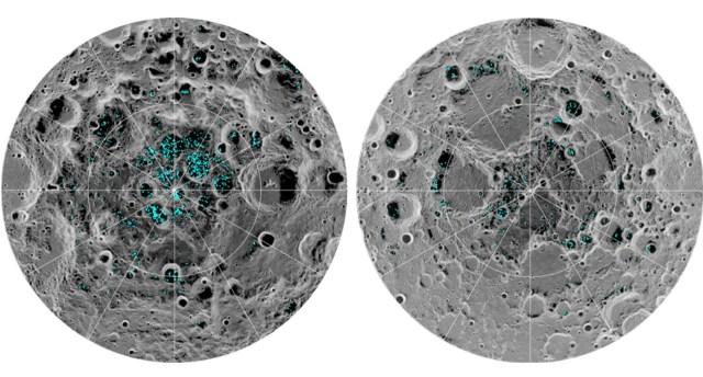 Water ice on moon