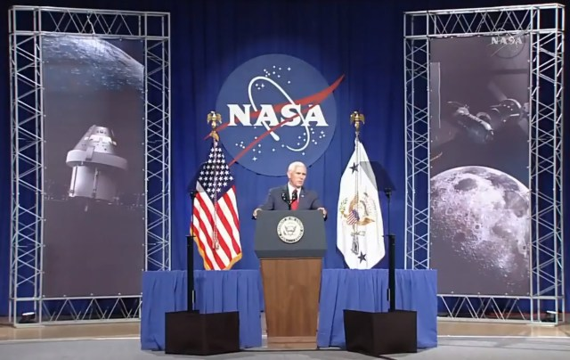 Mike Pence at JSC