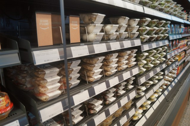 Amazon Go shelves