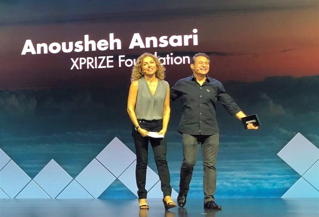 Anousheh Ansari and Peter Diamandis