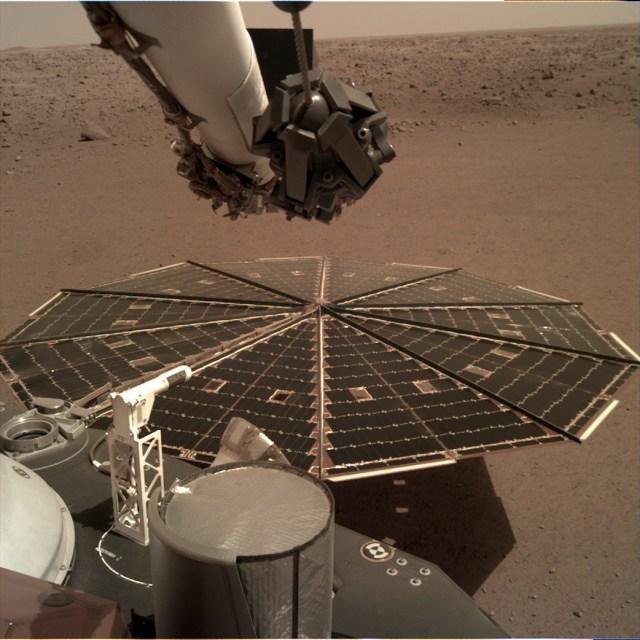 InSight lander solar panel