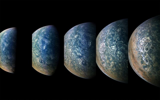 Jupiter views from Juno