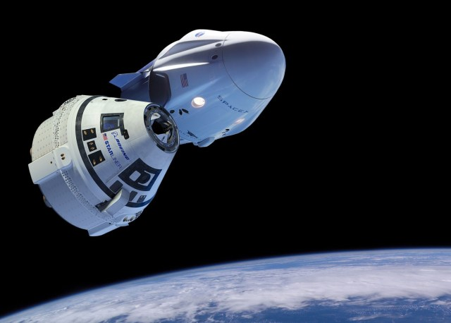 SpaceX Crew Dragon and Boeing Starliner