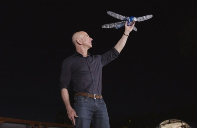 Jeff Bezos and robo-dragonfly