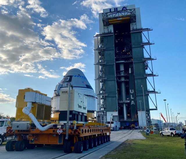 Starliner at launch complex