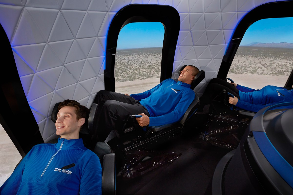 New Shepard crew cabin