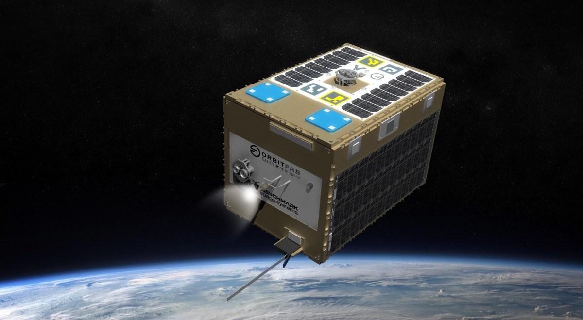 Orbital Fab's tanker in space