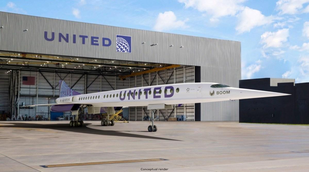 United Boom jet illustration