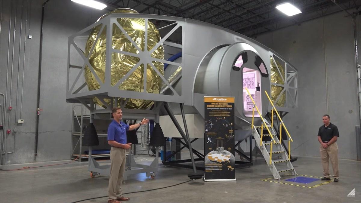 Dynetics lunar lander mockup