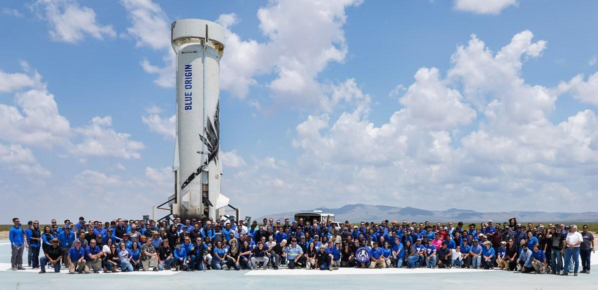 Blue Origin team and New Shepard