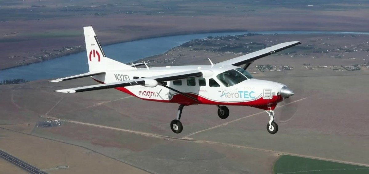 Flight test for electric Cessna