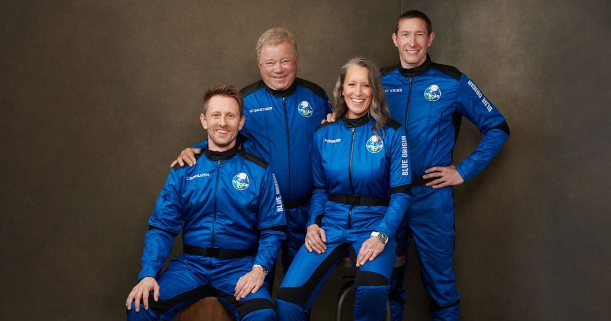 Blue Origin crew portrait
