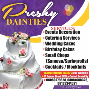 buy cakes from preshy dainties
