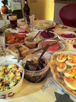 Mat, massor av mat.