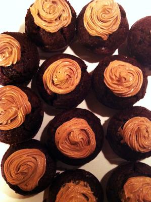 Chokladmousse med chokladfrosting