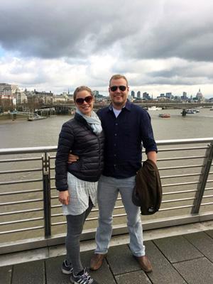 På promenad i London.