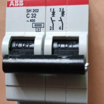 MCB 32A, 2pole Breaker