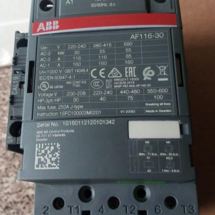 AF116-30-11-13, ABB Contactor, 3Pole