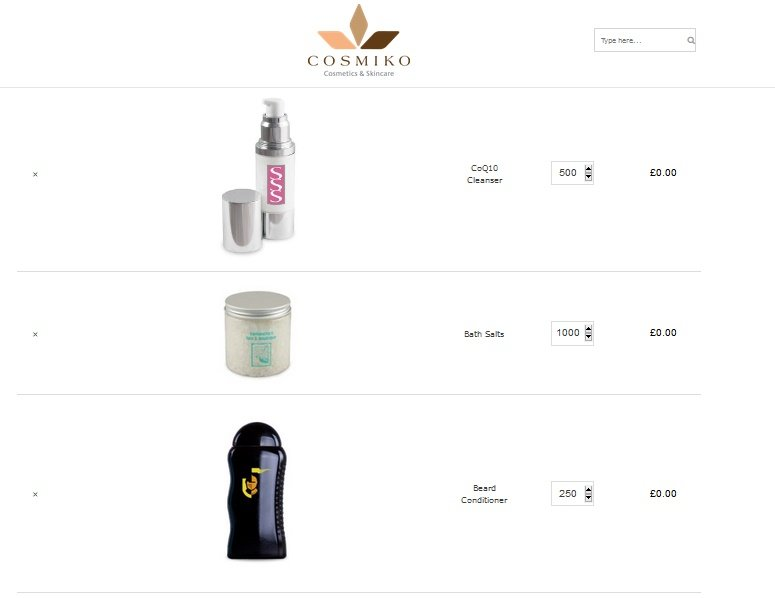new website adding products to quote