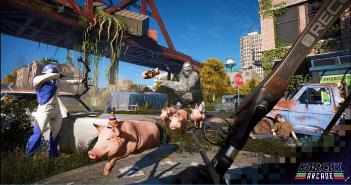 Far Cry 5 - L'éditeur de carte Far Cry Arcade offre de nouvelles possibilités - Yeti et cochons