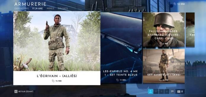 BF5 Armurerie - Achat avec les pièces de compagnie (CC) de BF5 cosmo-games.com