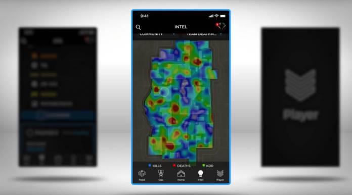 Black Ops 4 Companion App - carte thermique