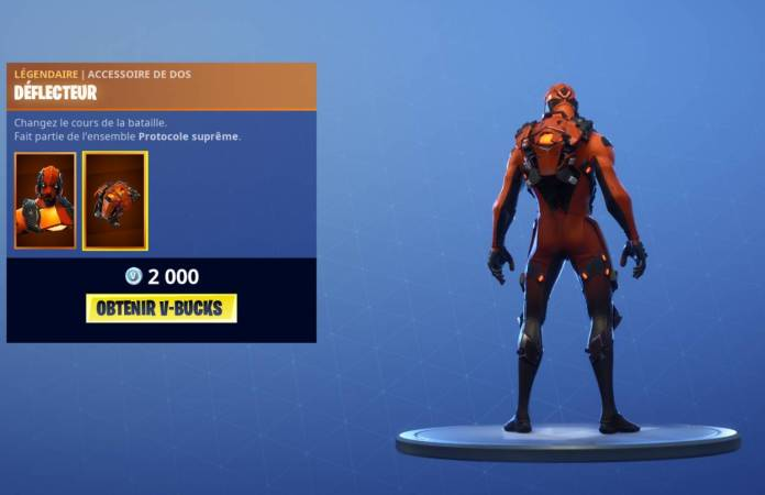 Boutique Fortnite 6 novembre - Déflecteur Vertex