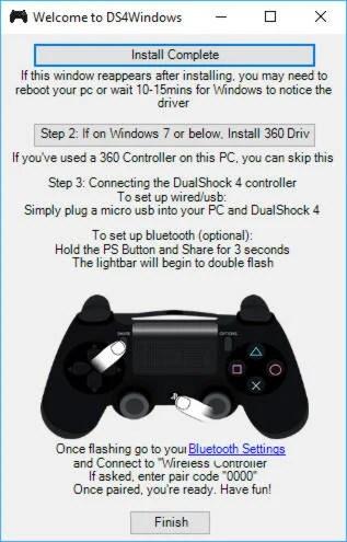 Installation de DS4 Windows - jouer avec votre manette PS4 sur PC