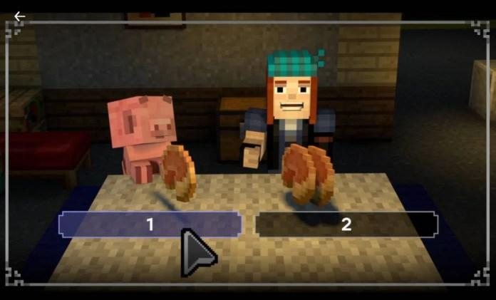 Netflix - Regardez dès maintenant Minecraft, une histoire interactive - Histoire 2