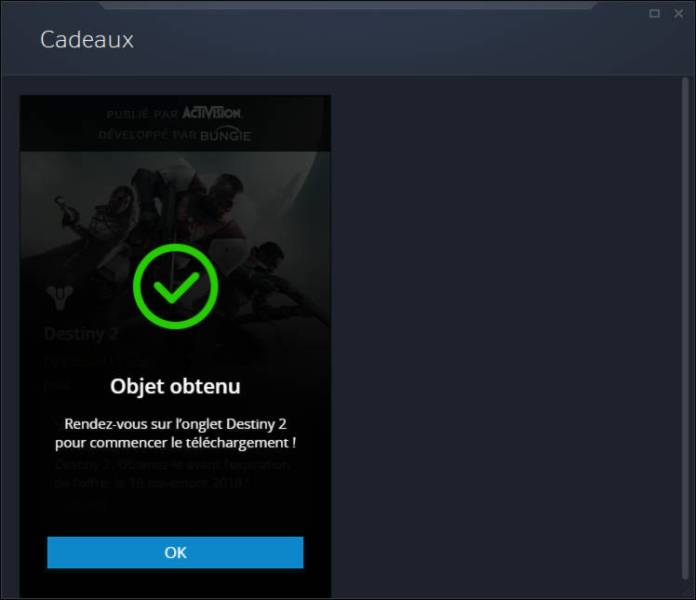 Obtenez Destiny 2 gratuitement sur PC maintenant - etape 4