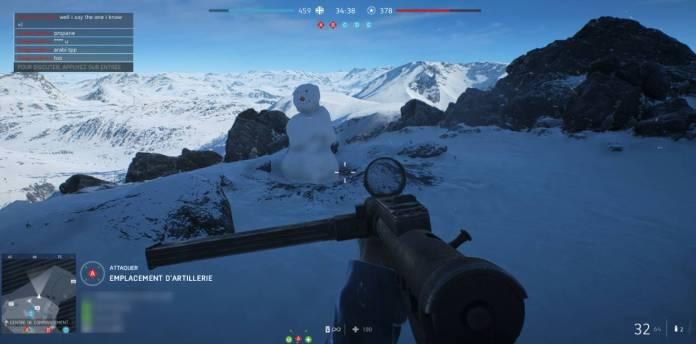 Battlefield 5 - Fjell 652 - bonhomme de neige