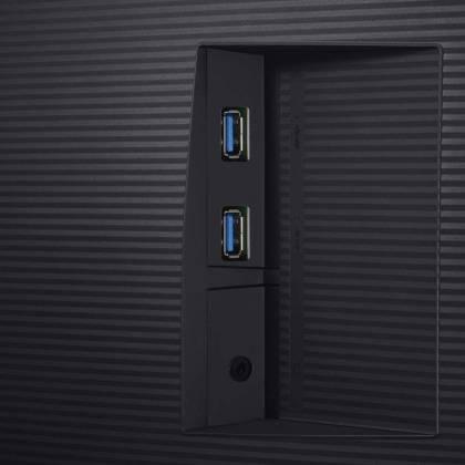 USB et Jack du Samsung U32H850 - meilleurs écrans PC 4K
