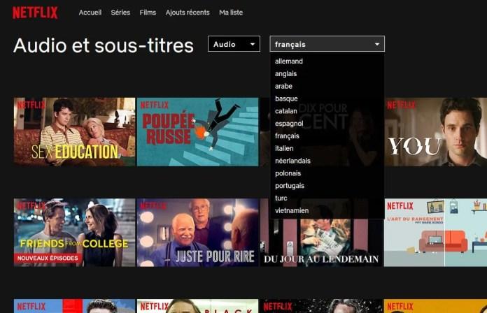 Comment rechercher des films ou séries pour une langue spécifique