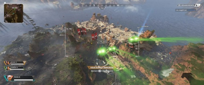 chute libre en équipe - apex legends