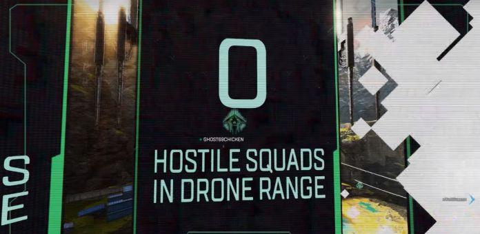 Crypto drone regarde bannière combien ennemis se trouvent à proximité