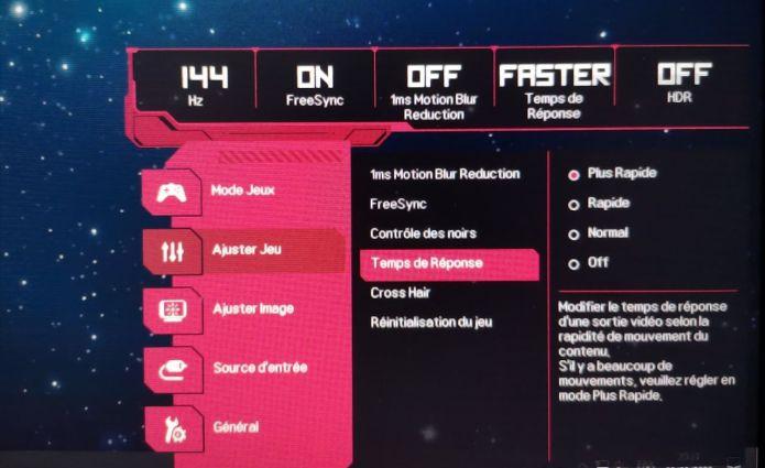 Temps de réponse écran : tout savoir, GtG, MPRT et réglages
