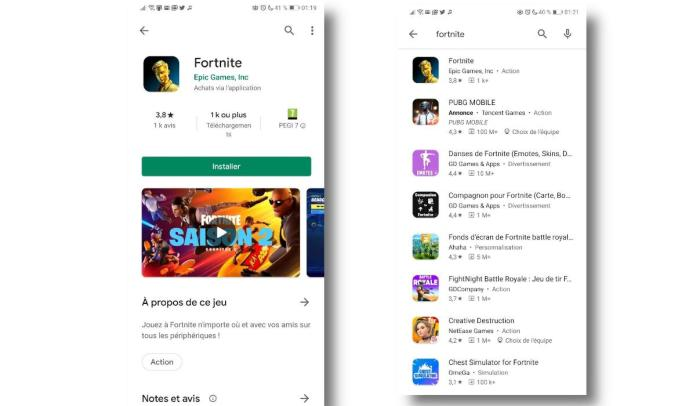 Fortnite enfin disponible sur Google Play Store d'Android