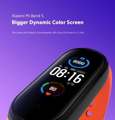 Xiaomi Mi Band 5- un écran plus grand