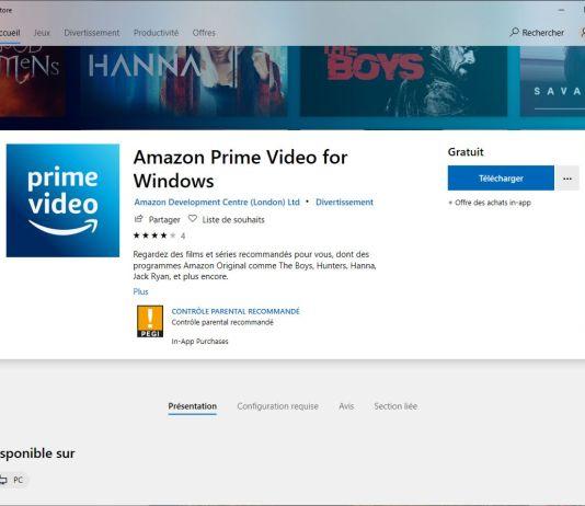Prime video application windows 10