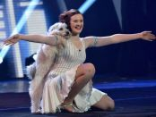 Pudsey and Ashleigh dancing at Britain's Got Talent